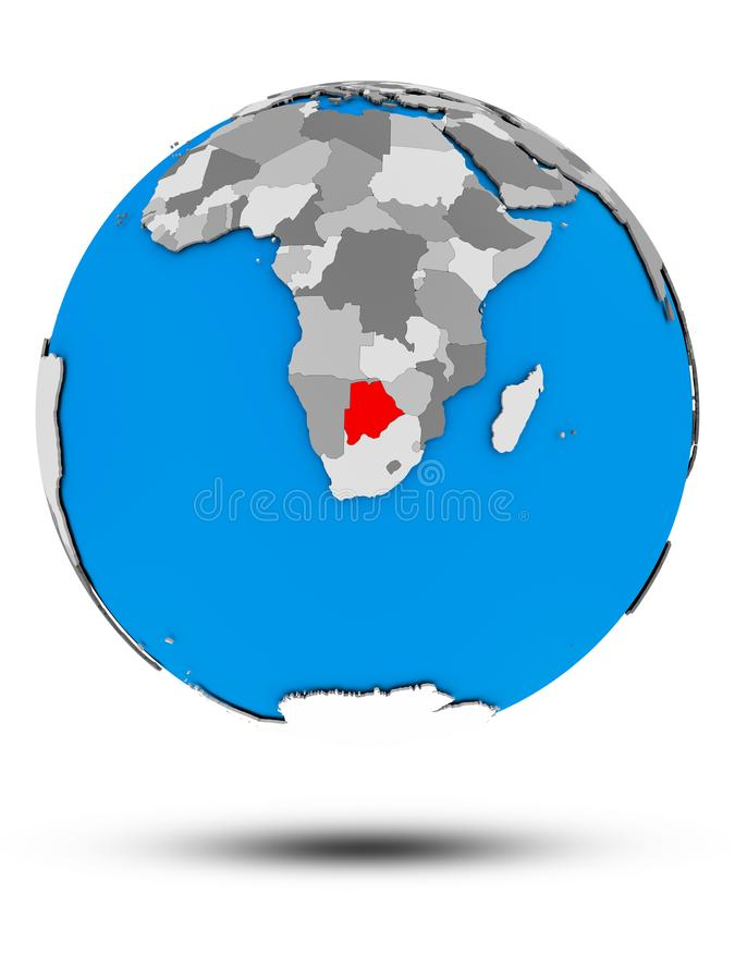 Botswana na politycznej kuli ziemskiej odizolowywającej royalty ilustracja