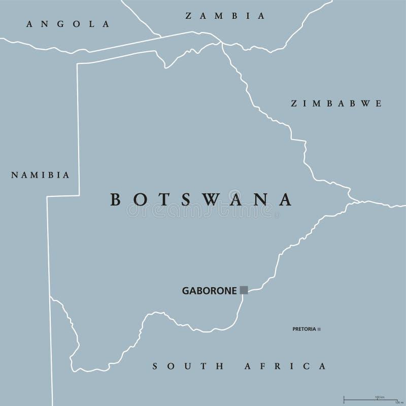 Botswana political map stock vector Illustration of botswana 96570046