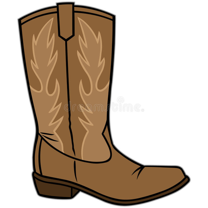 Botte de cowboy illustration stock
