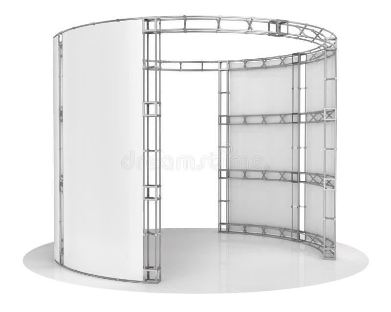 Botte de salon commercial, pavillon d'exposition illustration 3D illustration libre de droits