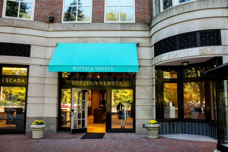 Bottega Veneta, rua de Boylston, Boston, miliampère foto de stock