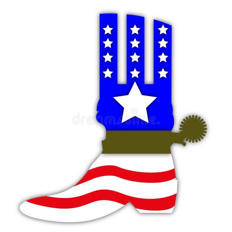 Download Bottes De Cowboy Dans Le Style De Drapeau Des USA Illustration Stock - Illustration du maryland, confédéré: 77155891
