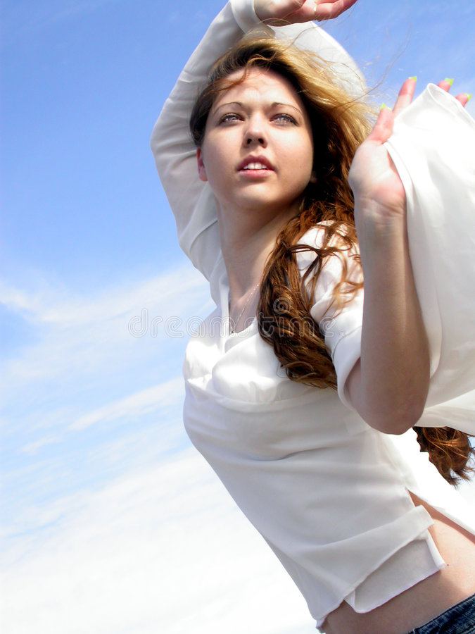 Botticelli Girl 1 stock photos