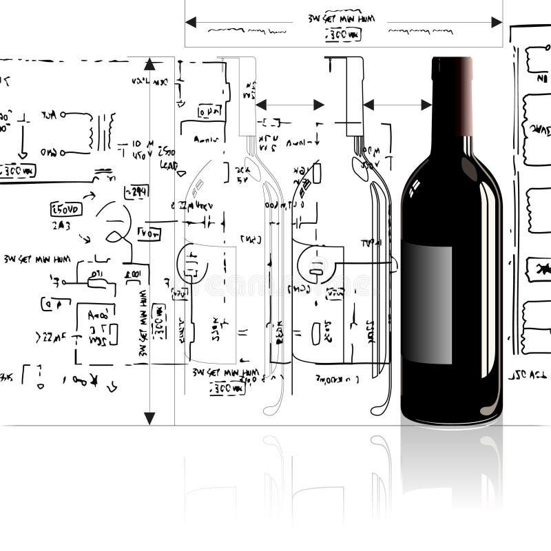 Download Bottiglia illustrazione vettoriale. Illustrazione di rosso - 3879078