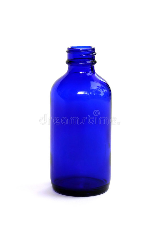 Bottiglia blu della medicina immagini stock libere da diritti