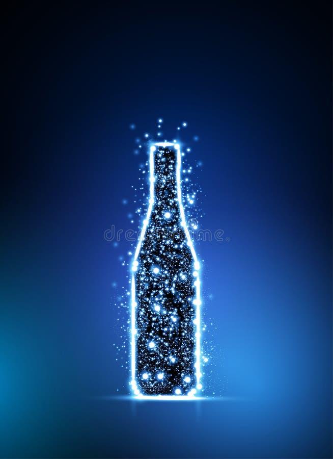Bottiglia chiara illustrazione vettoriale