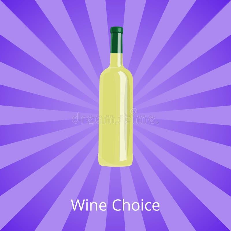 Bottiglia Choice del vino di vino bianco isolata su Ray illustrazione vettoriale
