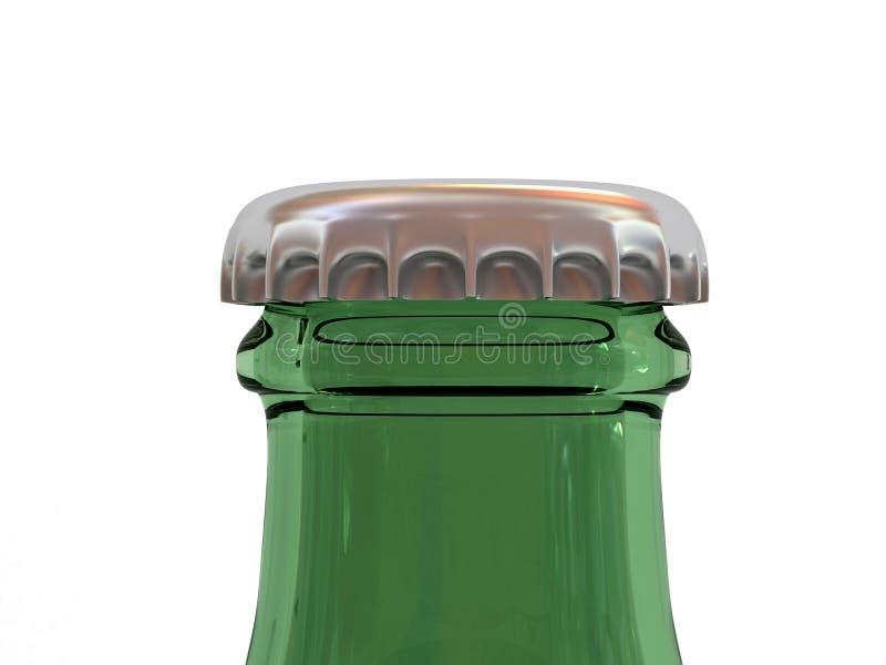 Bottiglia da birra con la protezione immagine stock
