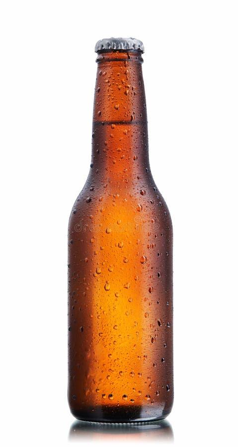 Bottiglia da birra del Brown immagini stock