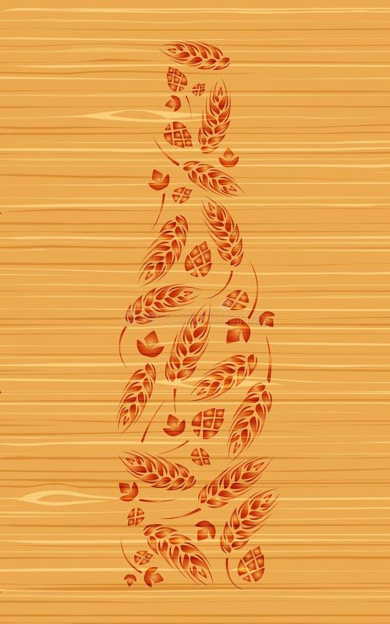 Bottiglia decorativa di vettore di birra illustrazione di stock