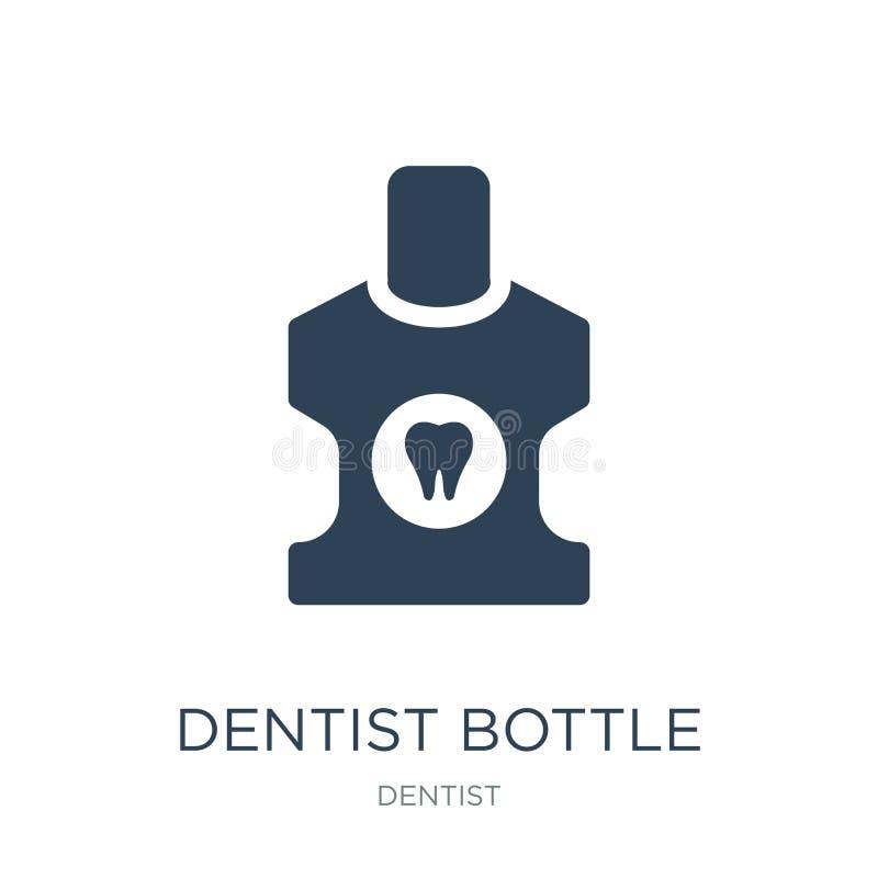 bottiglia del dentista con l'icona liquida nello stile d'avanguardia di progettazione bottiglia del dentista con l'icona liquida  royalty illustrazione gratis