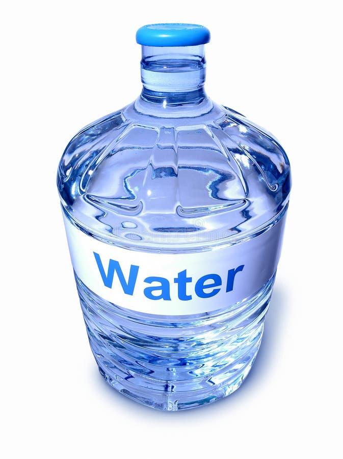 Bottiglia del dispositivo di raffreddamento di acqua immagini stock libere da diritti