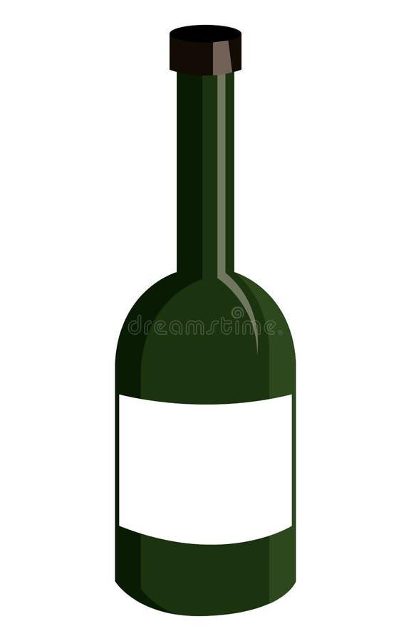 bottiglia del liquore verde, grafico illustrazione di stock