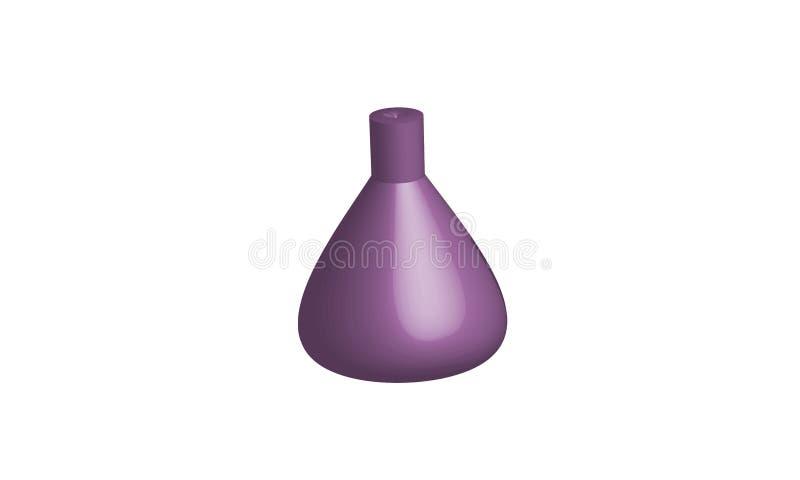bottiglia del Oggetto-prodotto chimico 3D illustrazione di stock