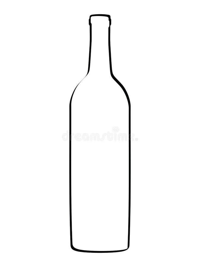 Bottiglia del profilo di vettore illustrazione di stock
