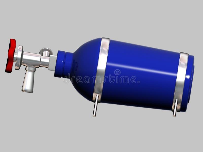 Bottiglia del protossido d'azoto royalty illustrazione gratis