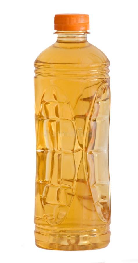 Bottiglia del succo di mele naturale fotografie stock libere da diritti