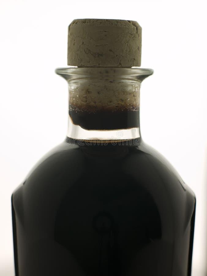 Bottiglia dell'aceto di Blasamic fotografie stock