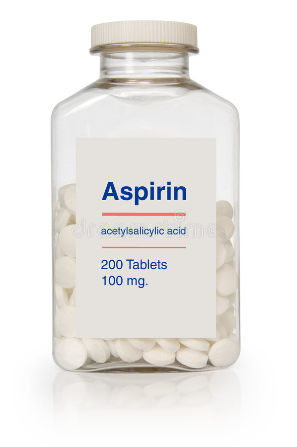 Bottiglia Dell Aspirina Fotografia Editoriale
