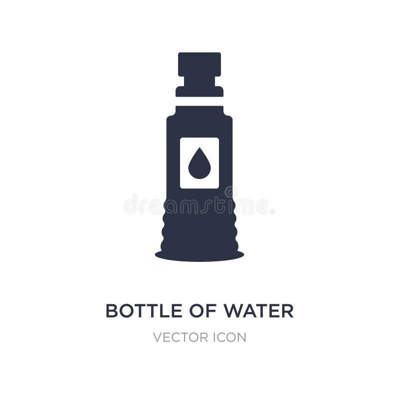 bottiglia dell'icona dell'acqua su fondo bianco Illustrazione semplice dell'elemento dal concetto di football americano royalty illustrazione gratis