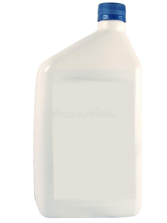Bottiglia dell'olio bianco tecnico fotografia stock