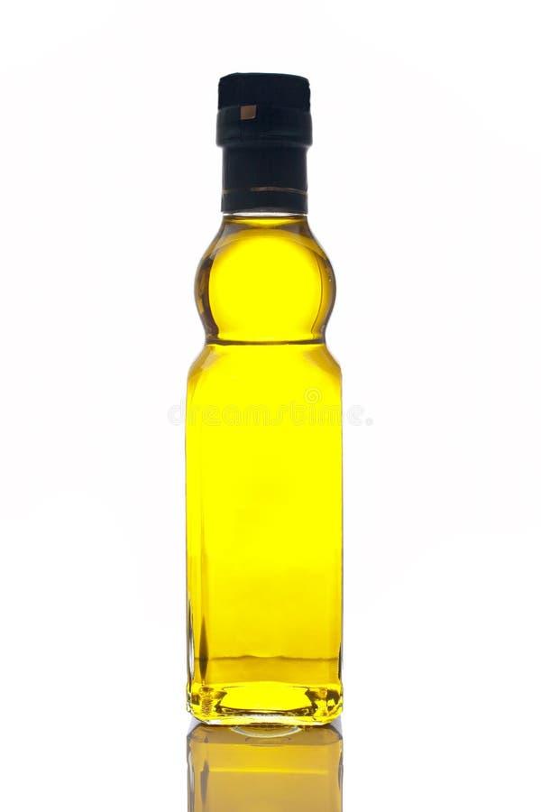 Bottiglia dell'olio di oliva del Virgin immagini stock