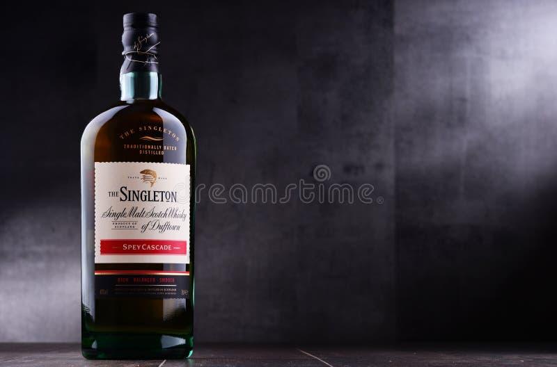 Bottiglia dell'unico nato di Dufftown, whiskey scozzese del singolo malto immagine stock