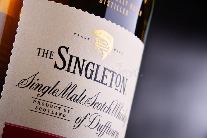 Bottiglia dell'unico nato di Dufftown, whiskey scozzese del singolo malto fotografie stock