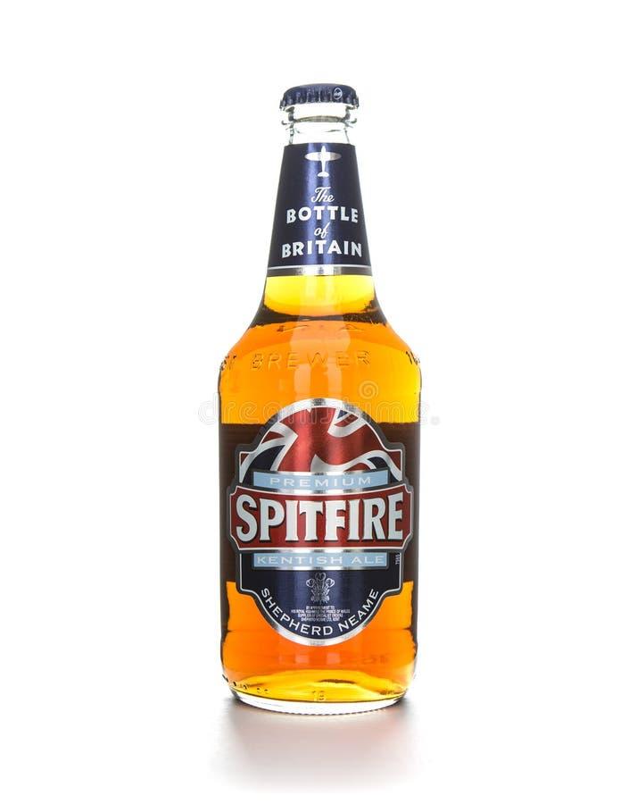 Bottiglia della birra inglese Kentish delle spitfire fotografia stock libera da diritti