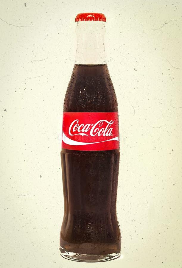 Bottiglia della cola - annata fotografia stock libera da diritti