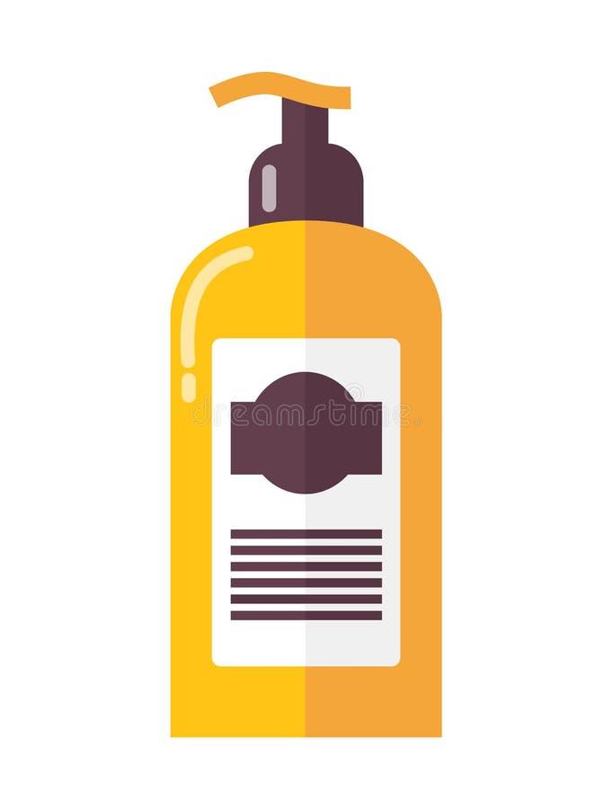 Bottiglia della lozione lussuosa della pelle con l'erogatore illustrazione vettoriale