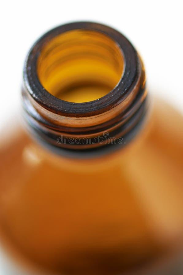 Bottiglia della medicina nella fine in su immagini stock