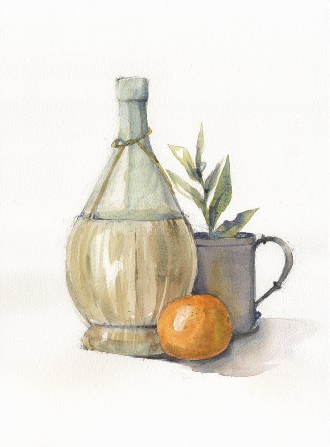 Bottiglia della pittura illustrazione di stock
