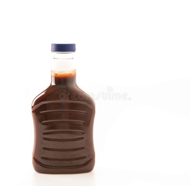 bottiglia della salsa barbecue immagini stock