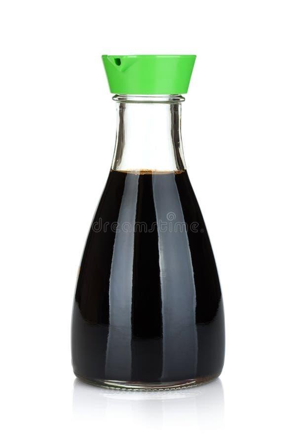 Bottiglia della salsa di soia fotografia stock libera da diritti