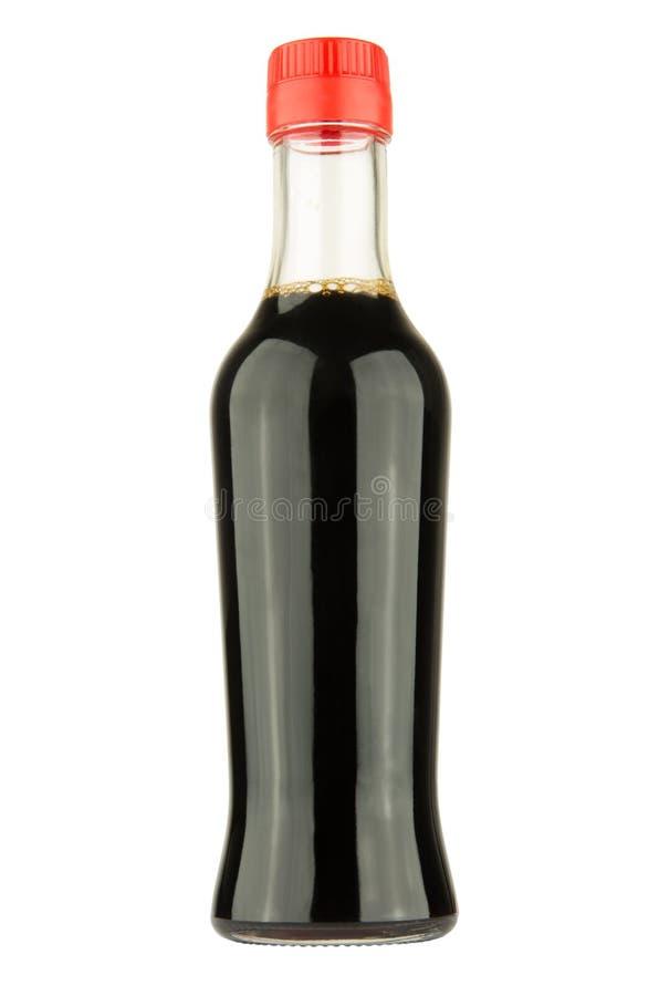 bottiglia della salsa di soia immagine stock