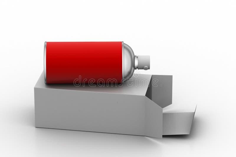 Bottiglia dello spruzzo con la copertura illustrazione di stock