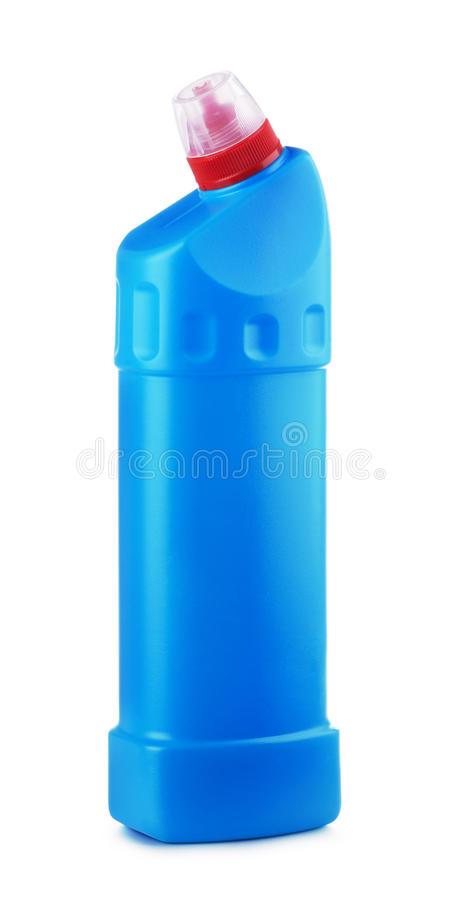 Bottiglia detersiva di plastica blu immagine stock libera da diritti