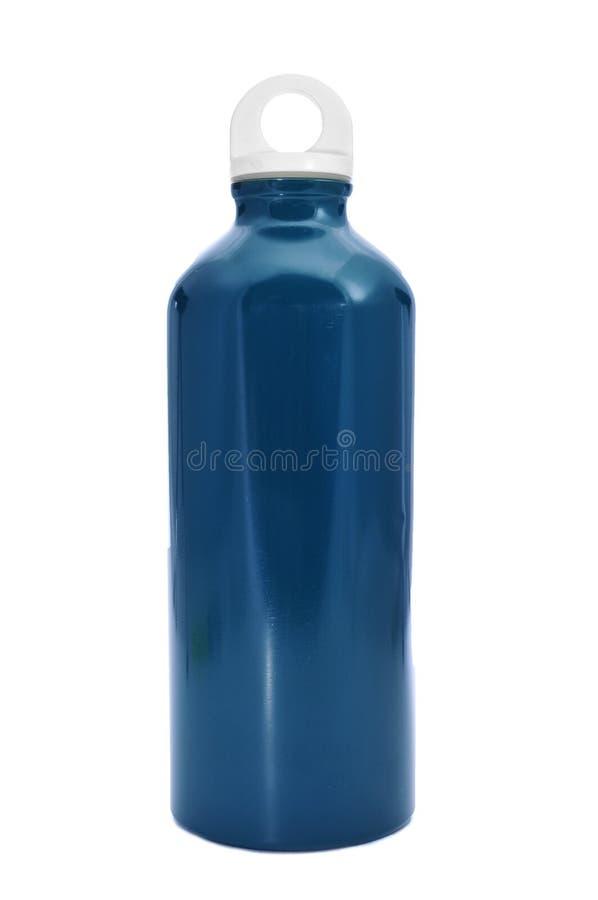 Bottiglia di acqua del metallo fotografie stock libere da diritti