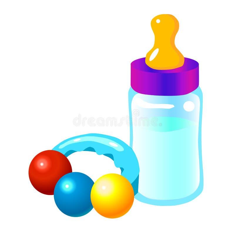 Bottiglia di bambino illustrazione di stock