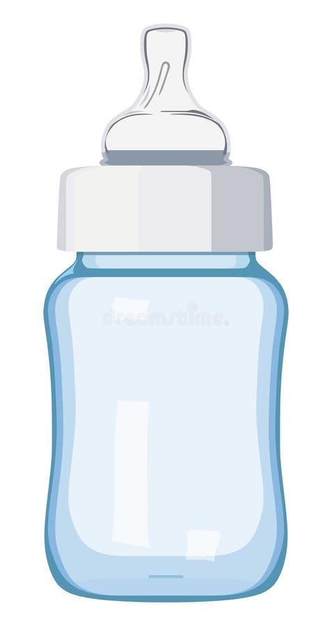 Bottiglia di bambino blu illustrazione vettoriale