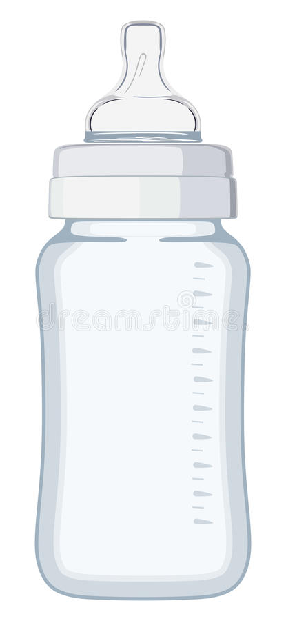 Bottiglia di bambino blu royalty illustrazione gratis