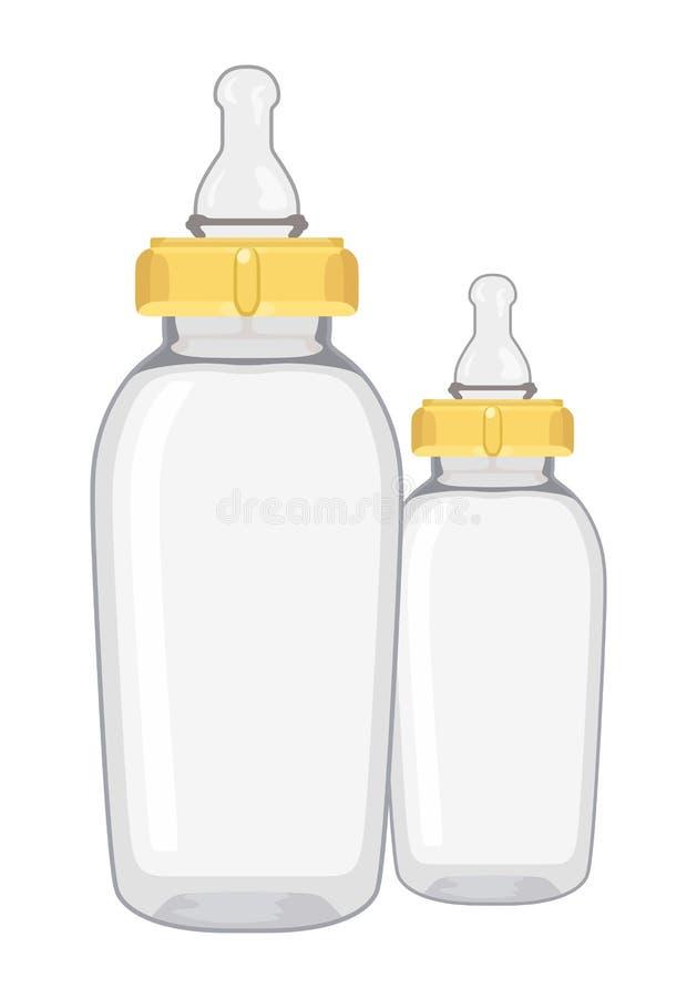 Bottiglia di bambino vuota illustrazione vettoriale