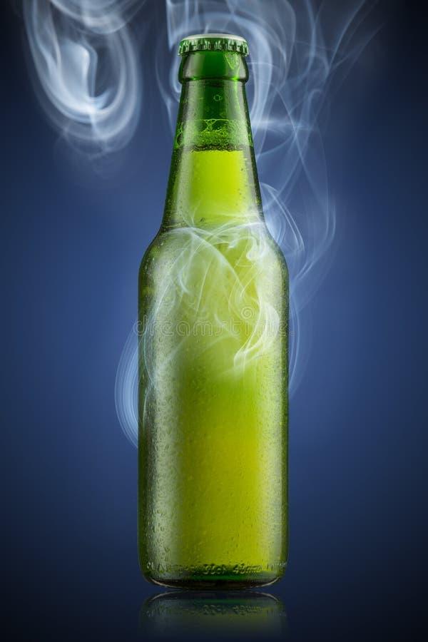 Bottiglia di birra fredda fotografie stock