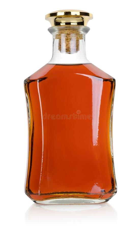 Bottiglia di brandy fotografia stock libera da diritti