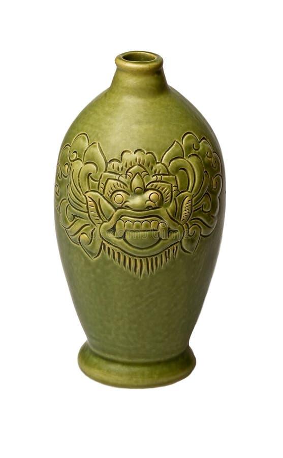 Bottiglia di ceramica fotografia stock