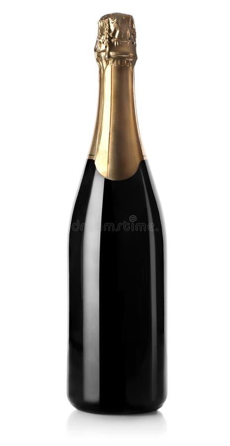Bottiglia di Champagne isolata fotografia stock libera da diritti