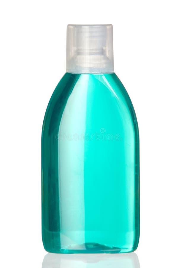 Bottiglia di colluttorio con la riflessione fotografia stock libera da diritti