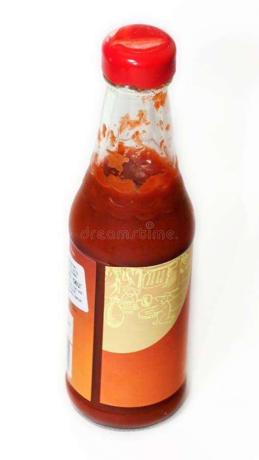 Bottiglia di ketchup fotografie stock libere da diritti