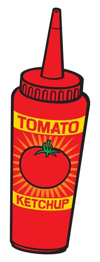 Bottiglia di ketchup del pomodoro illustrazione di stock